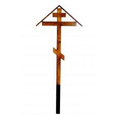 Крест большой с домовиной, покрытый лаком